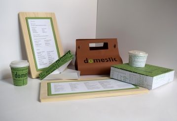 Menu and Packaging Designs for Domestic