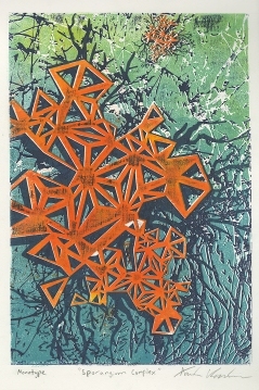 """""""Sporangium Complex"""" Lasercut Woodblock"""